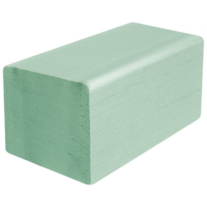 Papírové ručníky ZZ - zelené - 1vrstvé - 5000ks